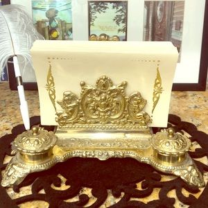 Victorian Brass Letter Holder